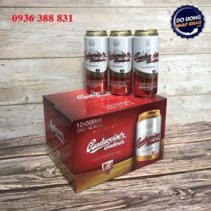Xách bia Budweiser Budvar Tiệp – lon 500 ml
