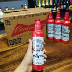 Bia Budweiser 5% Mỹ - chai nhôm 475 ml (NK)