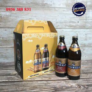 Hộp quà bia Sanwald Đức – mix 6 chai 500 ml