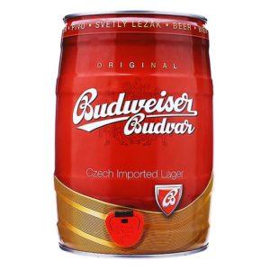 Bia Budweiser Budvar 5% Tiệp - bom 5 lít