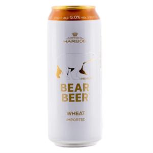 Bia gấu trắng Bear Beer Wheat 5% Đức - 24 lon 500ml