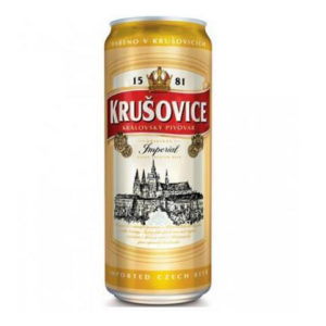 Bia Krusovice Imperial 5% Tiệp - 24 lon 500ml