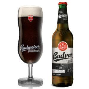Bia Budweiser Budvar chai đen