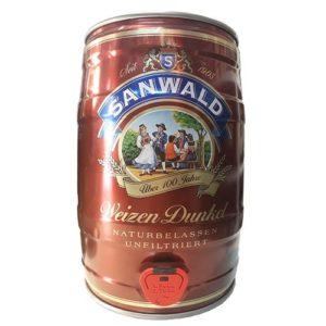 Bia Sanwald Weizen Dunkel 5% Đức - bom 5 lít