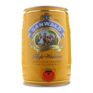 Bia Sanwald Hefe Weizen 4,9% Đức - bom 5 lít
