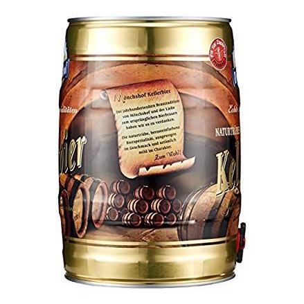 Bia Monchshof Kellerbier 5,4% Đức - bom 5 lít