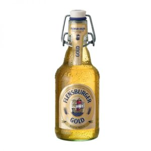 Bia Flensburger Gold 4.8% Đức – 24 chai 330ml nút sứ