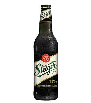 Bia Steiger đen 4,5% Tiệp - 24 chai 330 ml