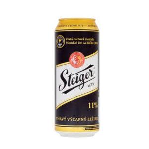 Bia Steiger đen 4,5% Tiệp - 24 lon 500 ml