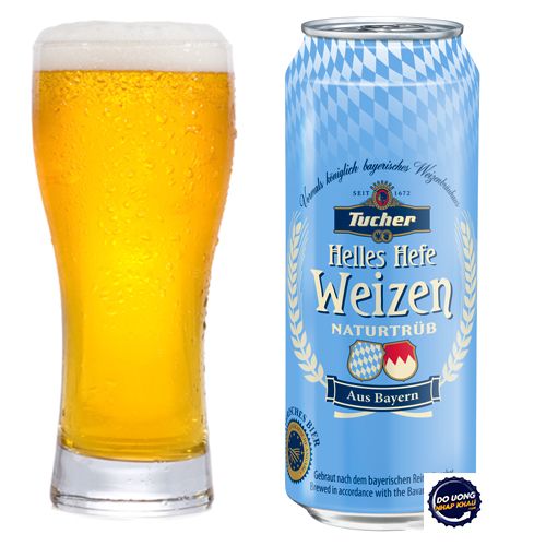 Bia Tucher Helles Hefe Weizen lon