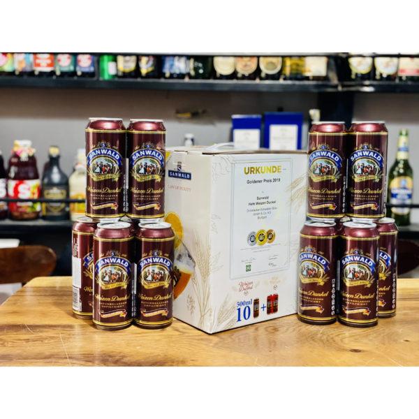 Hộp quà bia Sanwald đen