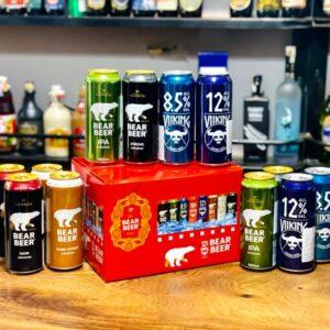 Hộp quà 12 lon bia gấu
