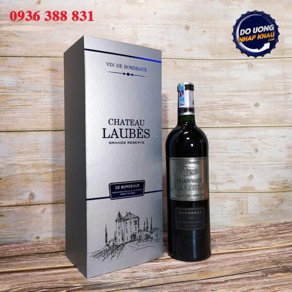 Hộp quà vang Chateau Laubes