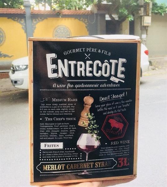 Vang bịch Entrecote