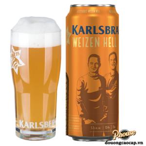Bia Karlsbrau Weizen Hells Đức lon 500ml