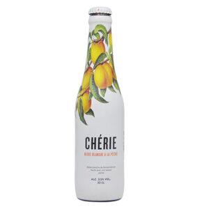 Bia Cherie Biere Blanche (vị đào) 3.5% Bỉ chai 330ml