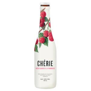 Bia Cherie Biere Blanche (vị mâm xôi)