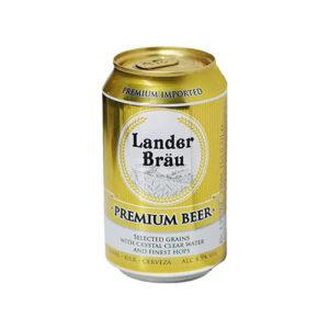 Bia Lander Brau Premium lon 330ml