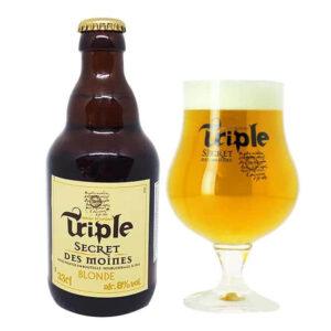 Bia Triple Secret Des Moines 8% Pháp chai 330ml