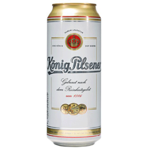 Bia Konig Pilsener 4.9% Đức lon 500ml